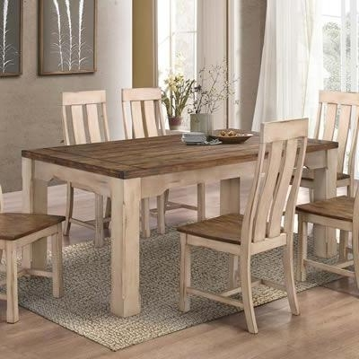 Country Dining Tables With 2017 Titus Dining Tables T3030 Modern Country Dining Table (Rectangle (View 9 of 20)