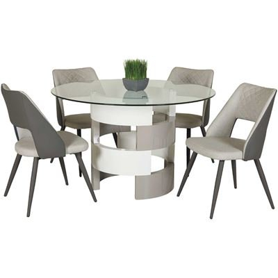 Craftsman 5 Piece Round Dining Sets With Uph Side Chairs Inside Widely Used Dining Room Sets, Dining Tables & Dining Chairs (View 5 of 20)