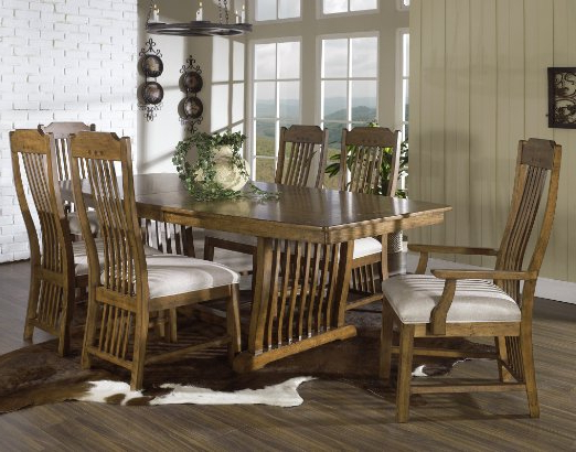 Craftsman 7 Piece Rectangle Extension Dining Sets With Arm & Side Chairs Throughout Current Cheap Trestle Table And Chairs, Find Trestle Table And Chairs Deals (View 19 of 20)