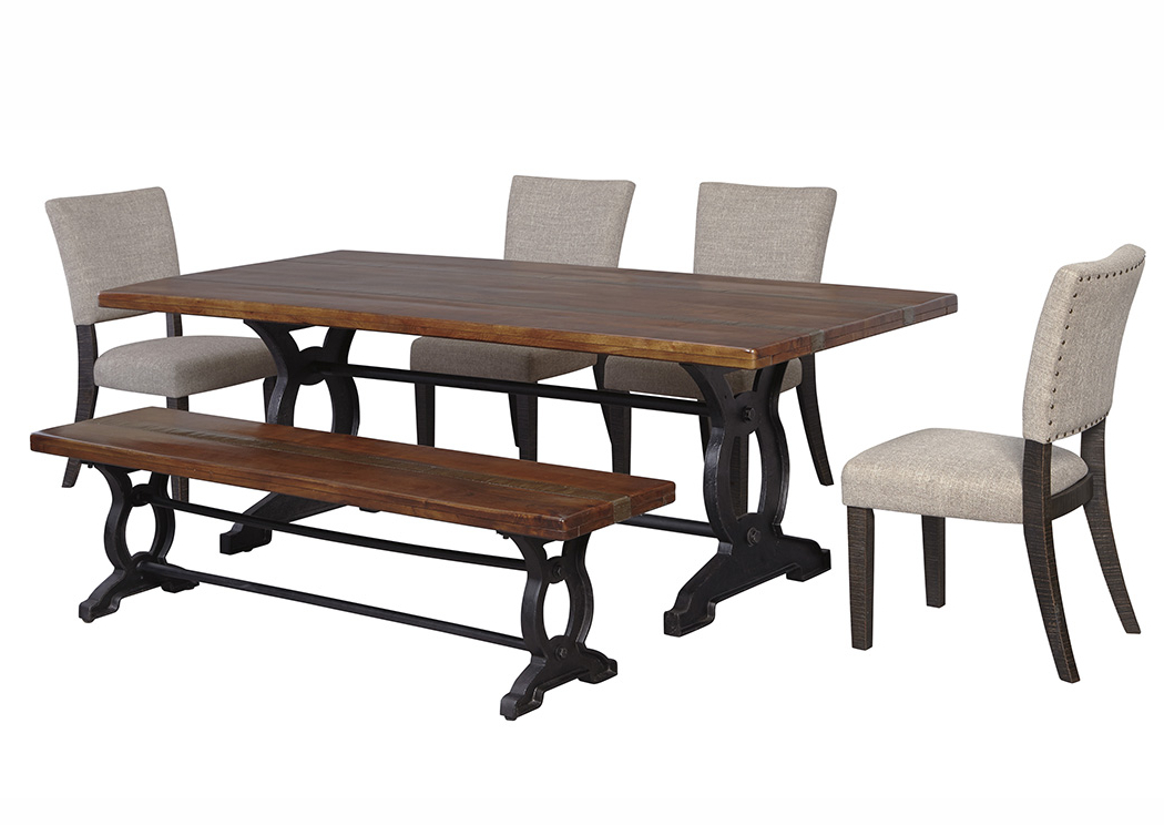Craftsman 7 Piece Rectangle Extension Dining Sets With Uph Side Chairs For Widely Used Langlois Furniture – Muskegon, Mi Zurani Brown/black Rectangular (View 4 of 20)