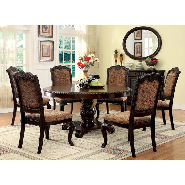 Craftsman 7 Piece Rectangle Extension Dining Sets With Uph Side Chairs With Regard To Most Current Dining Sets With Hutch (View 8 of 20)