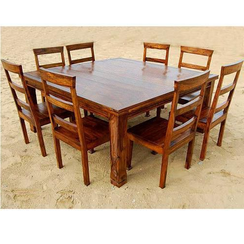 Craftsman 9 Piece Extension Dining Sets In Trendy Rustic 9 Pc Square Dining Room Table For 8 Person Seat Chairs Set (View 15 of 20)