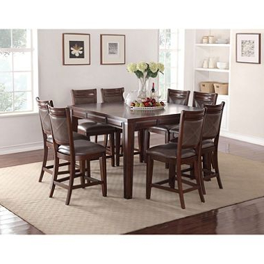 Craftsman 9 Piece Extension Dining Sets With Uph Side Chairs Within Newest Member's Mark Audrey Counter Height Table And Chairs, 9 Piece Dining (View 14 of 20)