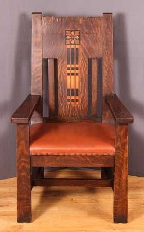 Craftsman Arm Chairs With 2017 Shop Of The Crafters Inlaid Oak Arm Chair (View 8 of 20)