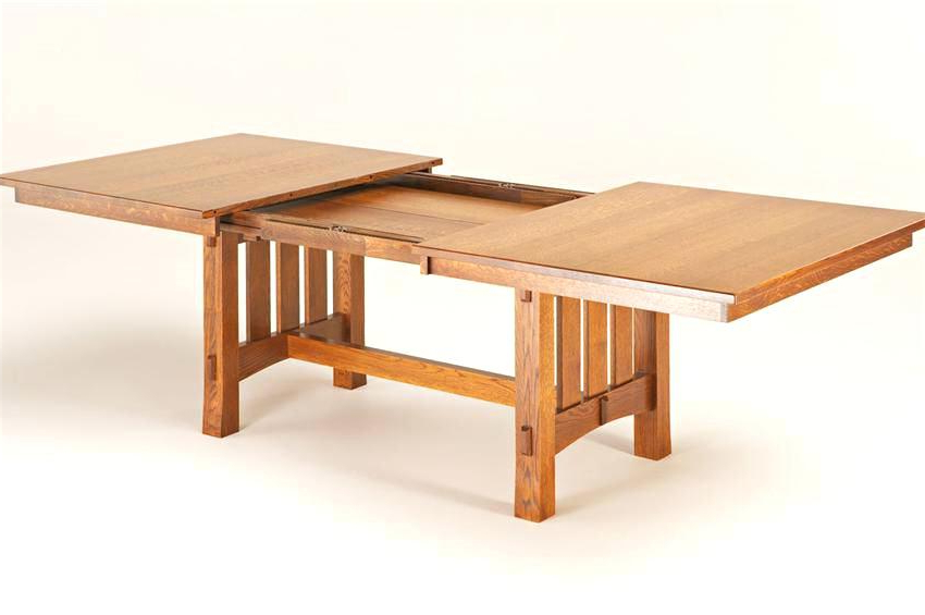 Craftsman Dining Table Mission Style And Chairs – Chann Pertaining To Popular Craftsman Rectangle Extension Dining Tables (Gallery 12 of 20)
