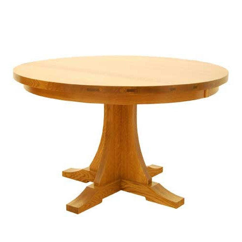 "Craftsman Round Dining Tables For Fashionable Craftsman Round Table 48"" (Gallery 3 of 20)"