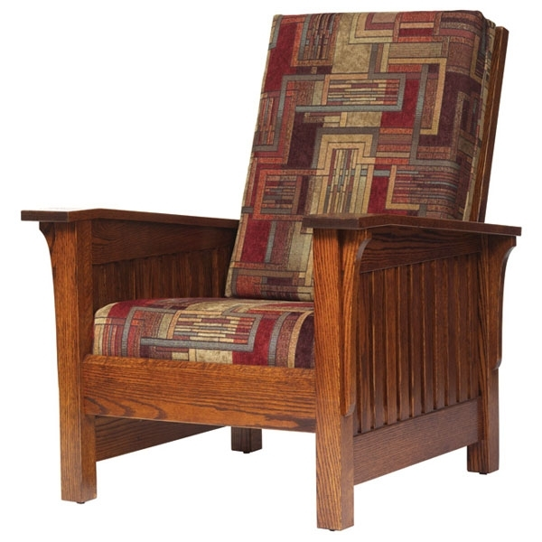 Craftsman Upholstered Side Chairs Throughout Most Up To Date Amish Mission Slat Chair (View 10 of 20)