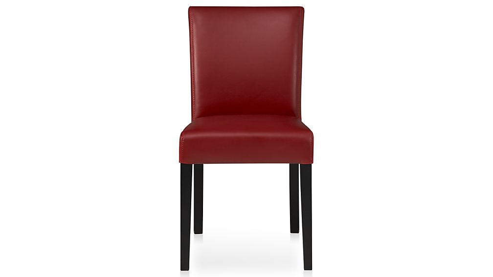 Crate And Barrel With Regard To Red Leather Dining Chairs (View 7 of 20)