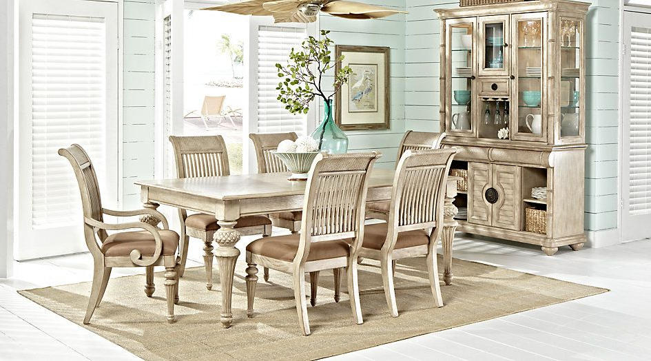 Crawford Rectangle Dining Tables Pertaining To Most Recent Cindy Crawford Home Key West Sand 5 Pc Rectangle Dining Room With (View 7 of 20)