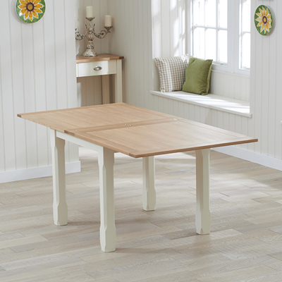 Cream And Oak Dining Tables In Most Recent Sandiego Oak And Cream 90Cm Dining Table With 4 Chairs – Robson (View 4 of 20)