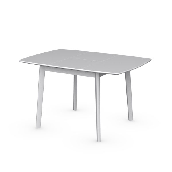 Cream Cs/4063 Q Extendable Dining Tablecalligaris, Italy – City Pertaining To 2017 Cream Lacquer Dining Tables (View 1 of 20)