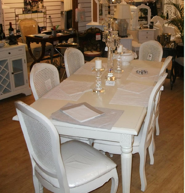 Cream Fayence Dining Table With Best And Newest Cream Dining Tables And Chairs (View 5 of 20)