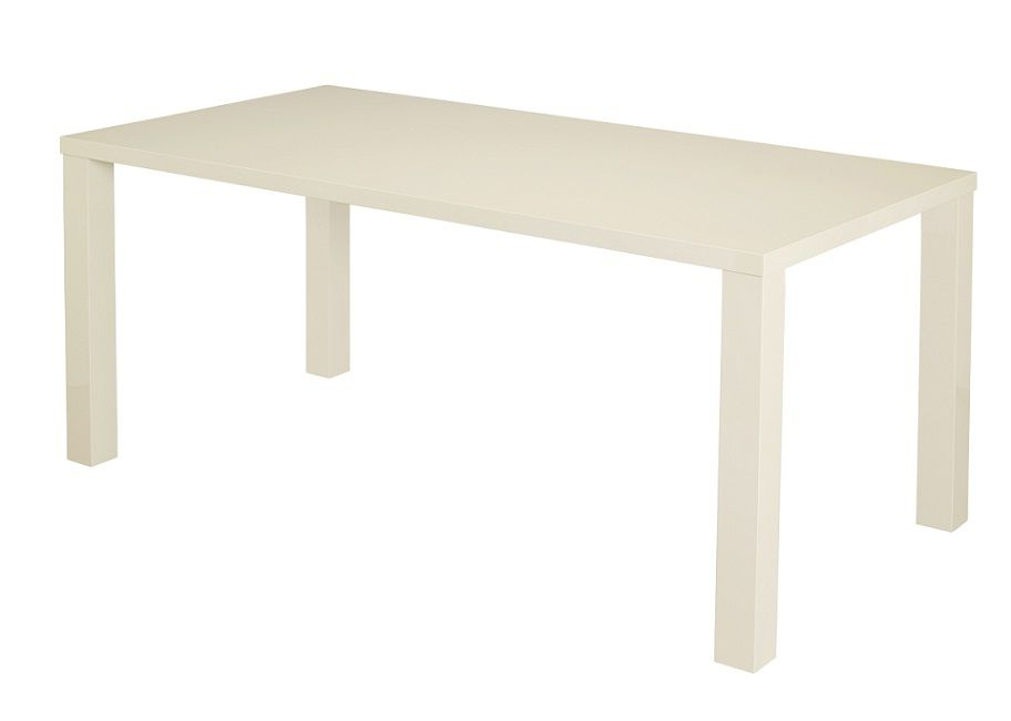 Cream Gloss Dining Tables And Chairs Intended For Most Up To Date Cosmos Cream Gloss Dining Table 3 Sizes (View 6 of 20)