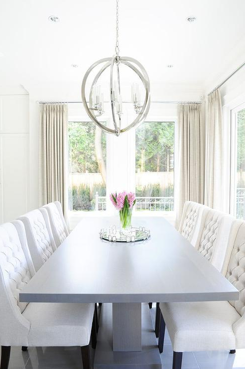Cream Lacquer Dining Tables Inside Famous Wingback Dining Chairs Design Ideas (View 3 of 20)