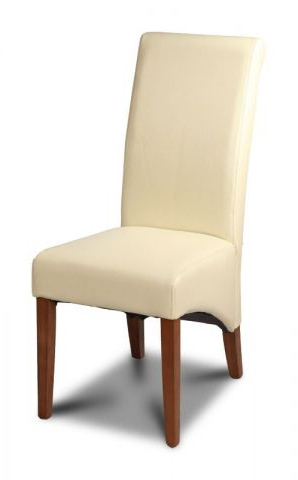 Cream Leather Dining Chairs Inside Widely Used Leather Dining Room Chair In Cream (View 5 of 20)