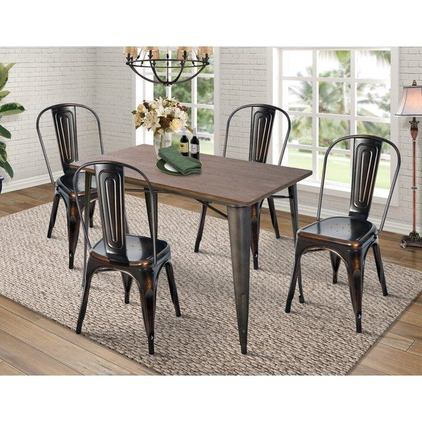 Croley 5 Piece Dining Set Regarding Most Recent Jameson Grey 5 Piece Counter Sets (View 5 of 20)