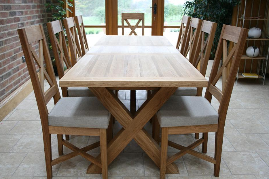 Cross Leg Dining Tables (View 4 of 20)