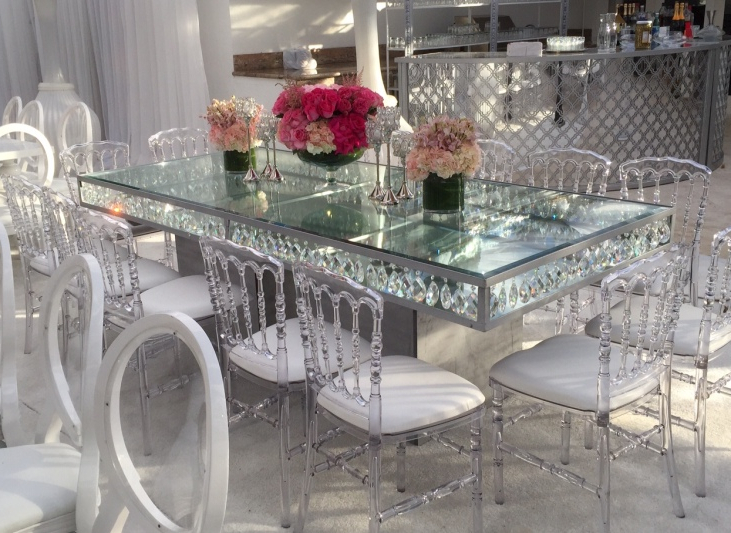 Crystal Dining Tables Regarding Well Known Dining Tables (View 3 of 20)