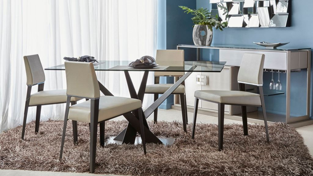 Crystal Dining Tables Within Popular Fosters Furniture. Elite Modern Dining Table Crystal 394Rec 60 Condo (Gallery 9 of 20)