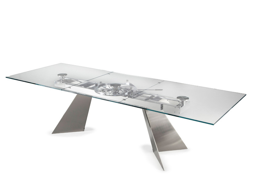 Crystal Tablenaos Design Studio D'urbino Lomazzi For Crystal Dining Tables (Gallery 20 of 20)