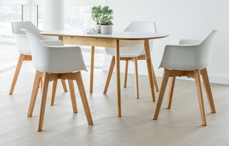 Current 4 Seater Extendable Dining Tables For White 4 Seat Dining Set – Home Furniture – Out & Out (View 5 of 20)