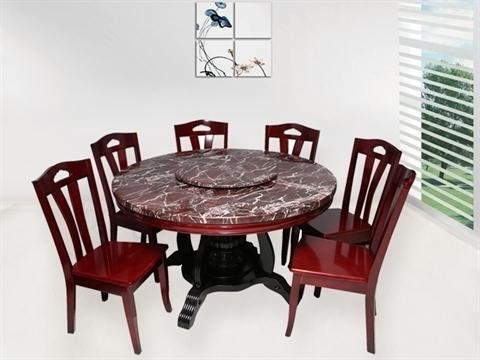 Current 6 Seater Round Dining Tables For 6 Seater Round Dining Table Sets, भोजन कक्ष फर्नीचर (View 10 of 20)