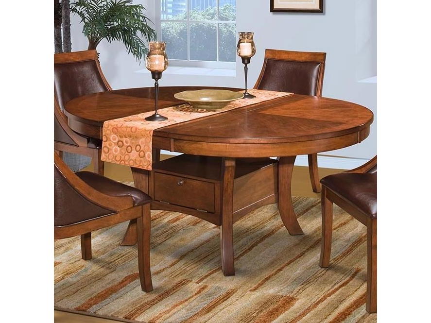 Current Aspen Dining Tables Intended For Aspen Round Dining Table In Burnished Cherry – Shop For Affordable (View 15 of 20)