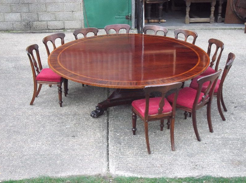Current Awesome Base/size. Huge Round Georgian Table – 7Ft Diameter Round Inside Large Circular Dining Tables (Gallery 20 of 20)