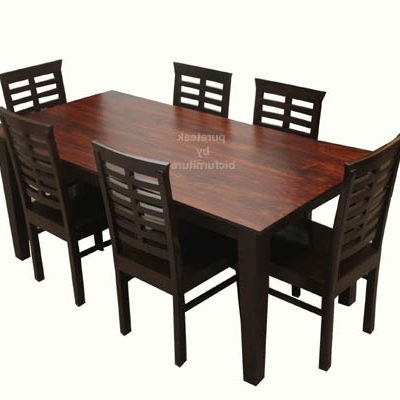Current Beautiful 6 Seater Dining Table Sets Made In Solid Wood Pertaining To 6 Seater Dining Tables (View 13 of 20)