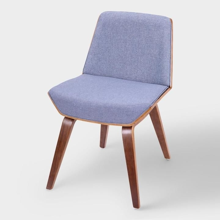 Current Blue Mid Century Joel Upholstered Dining Chair – Fabricworld Throughout Market Side Chairs (View 3 of 20)