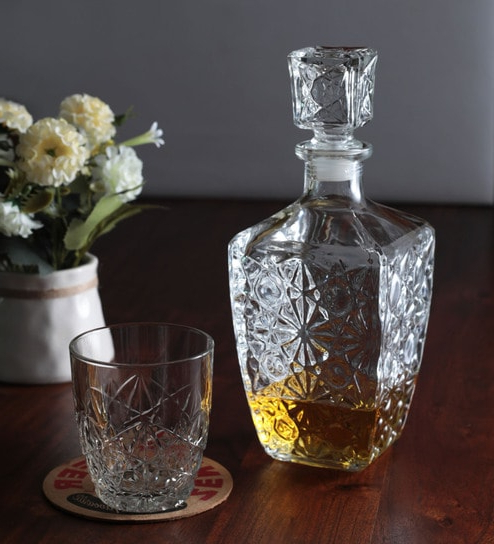 Current Buy Bormioli Rocco Selecta Decanter & Wisky Tumblers – Set Of 7 For Rocco 7 Piece Extension Dining Sets (View 15 of 20)