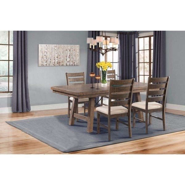 Current Caden 7 Piece Dining Sets With Upholstered Side Chair With Shop Picket House Furnishings Dex 5Pc Dining Set Table, 4 Ladder (View 8 of 20)