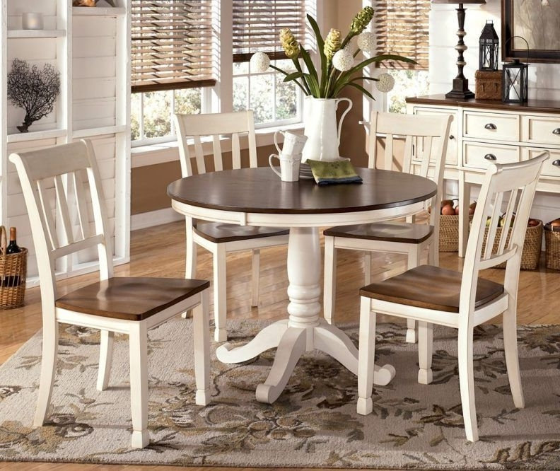 Current Candice Ii 5 Piece Round Dining Sets With Slat Back Side Chairs In Round Dining Room Table Sets Unique Molded Plastic Chairs Padded (View 9 of 16)