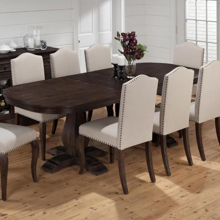 Current Chapleau Ii 9 Piece Extension Dining Table Sets Intended For Grand Terrace Dining Table With Butterfly Leaf (View 11 of 20)