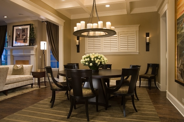 Current Chapleau Ii 9 Piece Extension Dining Tables With Side Chairs Throughout Wolfram Dining Room (View 7 of 20)