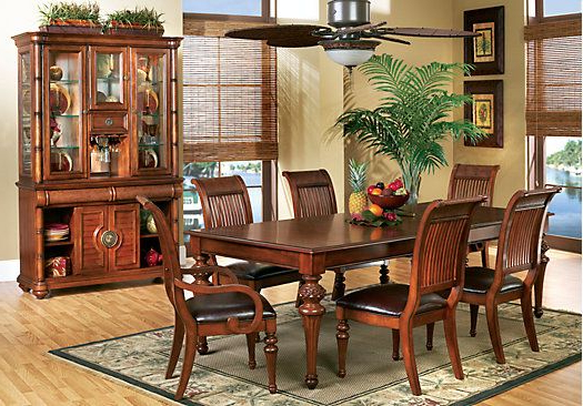 Current Cindy Crawford Home Key West Tobacco 5 Pc Rectangle Dining Room With Pertaining To Crawford 7 Piece Rectangle Dining Sets (Gallery 5 of 20)