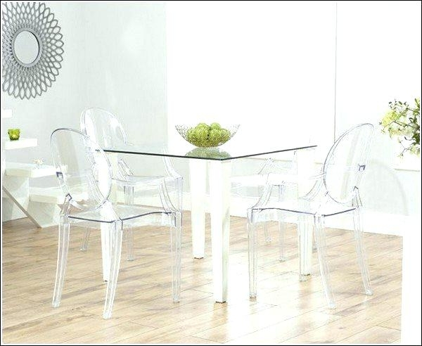 Current Clear Plastic Dining Tables Regarding Clear Dining Room Chairs – Eurostroy (View 12 of 20)