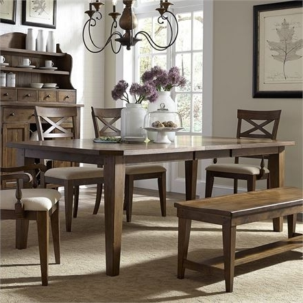 Current Craftsman 5 Piece Round Dining Sets With Side Chairs For Dining Tables (View 6 of 20)