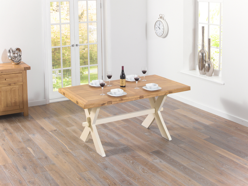 Current Cream And Wood Dining Tables Within Extending Dining Tables – Solid Wood Tables – Extending Oak Tables (View 17 of 20)