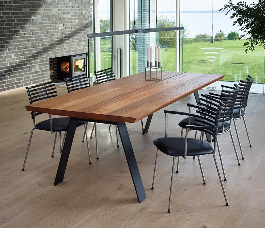 Current Danish Elm Dining Table With Angular Legs (View 2 of 20)