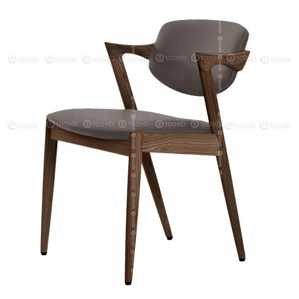 Current Designer Chair Hong Kong – Kai Oak Fabric Dining Chair – Walnut Within Lindy Dove Grey Side Chairs (View 4 of 20)