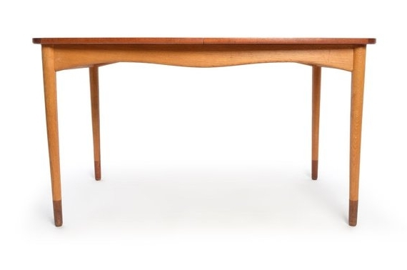 Current Finn Juhl For Bovirke Dining Table Extensions Leaves Teak Mid (View 15 of 20)