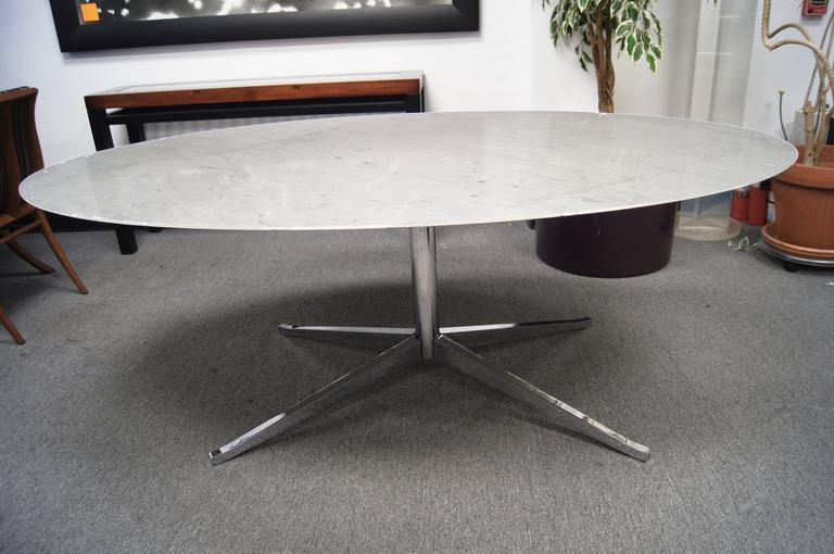 Current Florence Dining Tables For Marble And Chrome Oval Conference Or Dining Tableflorence Knoll (View 2 of 20)