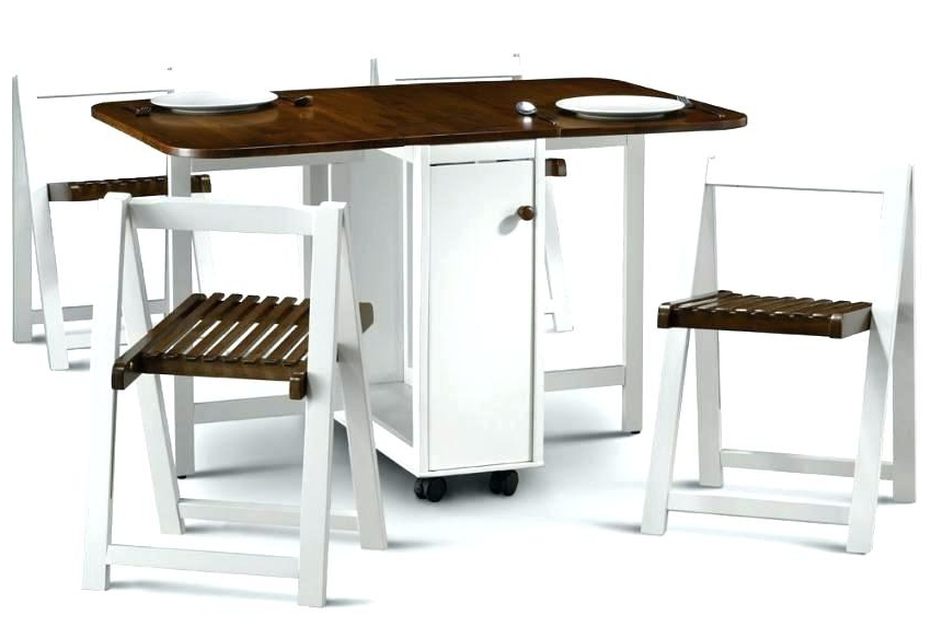 Current Foldaway Dining Tables For Decoration: Collapsible Dining Table (View 20 of 20)