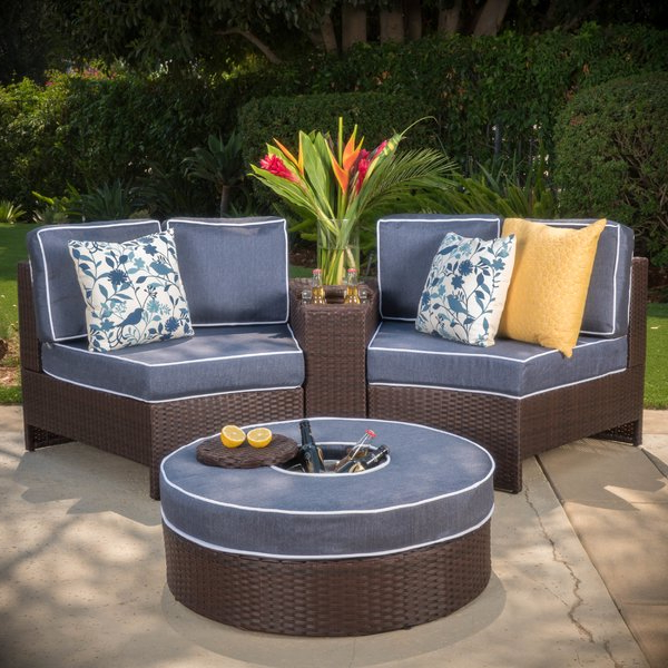 Current Gavin 7 Piece Dining Sets With Clint Side Chairs In Zipcode Design Gavin 4 Piece Rattan Conversation Set With Cushions (View 3 of 20)