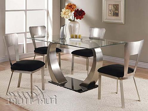 Current Glass Dining Tables Sets Inside Table (View 5 of 20)