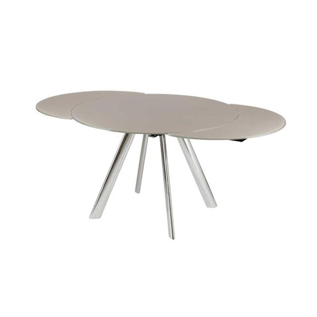 Current Glass Round Extending Dining Tables Inside Myles Circular Extending Dining Table (View 7 of 20)