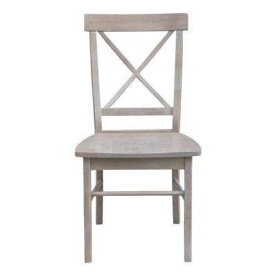 Current Gray – Side Chair – Cross Back – Dining Chairs – Kitchen & Dining Regarding Alexa Grey Side Chairs (View 5 of 20)