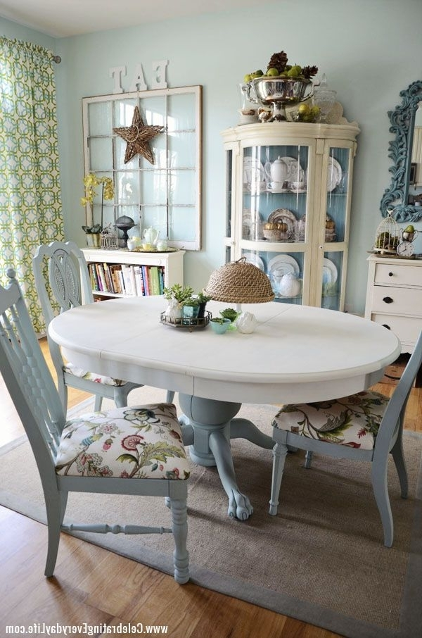 Current How To Save Tired Dining Room Chairs With Chalk Paint Right Now Pertaining To Blue Dining Tables (View 5 of 20)