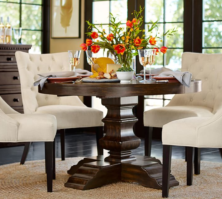 Current Impressive Round Dining Room Chairs With Well Round Dining Table For Within Pedestal Dining Tables And Chairs (View 6 of 20)